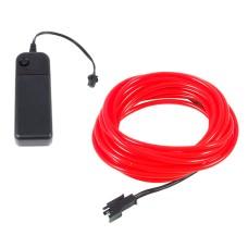 Šviečiantis raudonas laidas El wire 3.2mm 3m maitinimas 2xAA