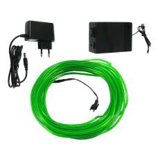 Šviečiantis žalias laidas El wire 3.2mm 10m maitinimas 230VAC