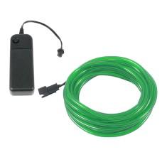 Šviečiantis žalias laidas El wire 3.2mm 3m maitinimas 2xAA