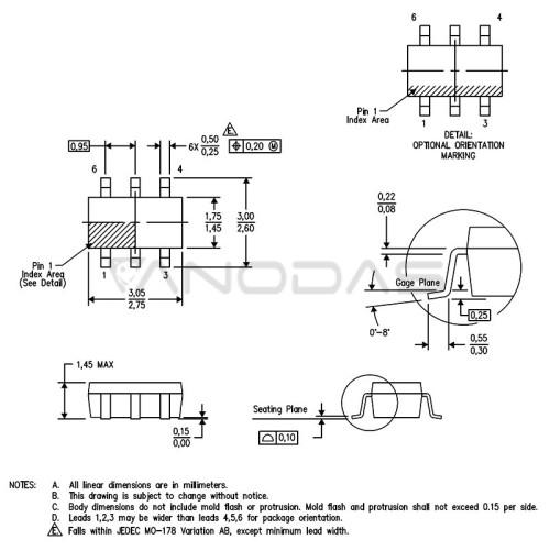 TPD4S009DBVR  SOT23-6  TI