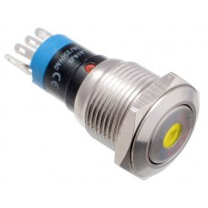 Vandal proof push button switch W16F11DY12/S