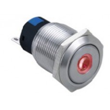 Vandal proof push button switch W19F11DR12/S
