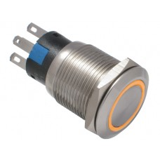 Vandal proof push button switch W19F11EO12/S