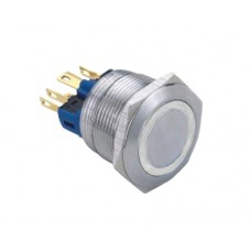 Vandal proof push button switch W22F11EW12/S