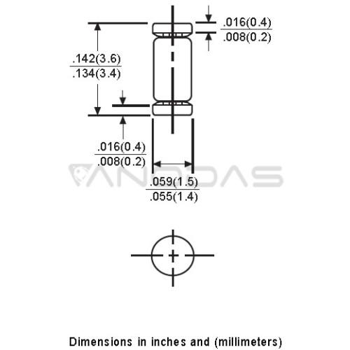zener  diode  BZV55C22  SOD80  Kingtronics