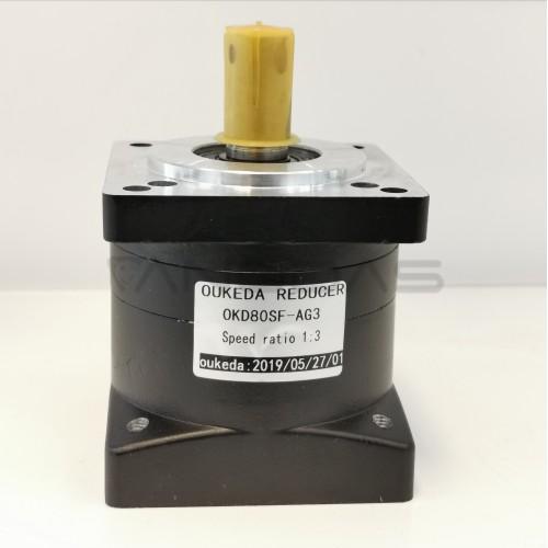 Reduktorius 80mm Nema32 santykis 3:1 19mm velenas žingsniniam varikliui