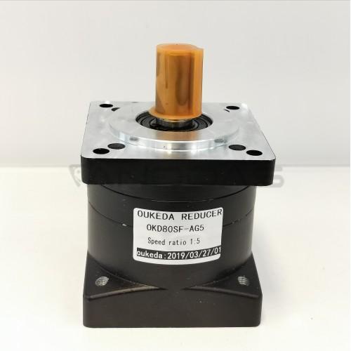 Reduktorius 80mm Nema32 santykis 5:1 19mm velenas žingsniniam varikliui