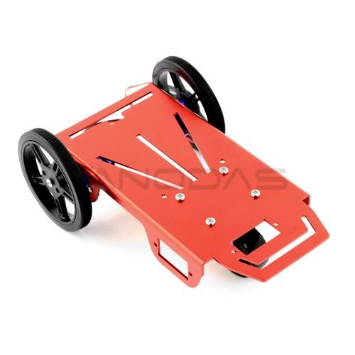 Roboto važiuoklė mini 2WD - Feetech FT-MC-001-KITsu FS90R servo varikliais