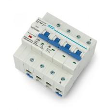 Elektros srovės jungiklis WiFi Tuya RTX CB63 4P 63A