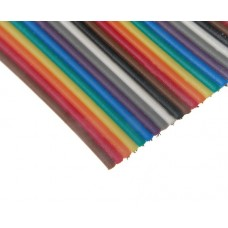 Plokščiasis spalvotas kabelis AWG28 14 gyslų 1m