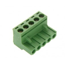 6 poles pitch 5.08mm height 15mm green colour clamp:phosphor bronze.nickel