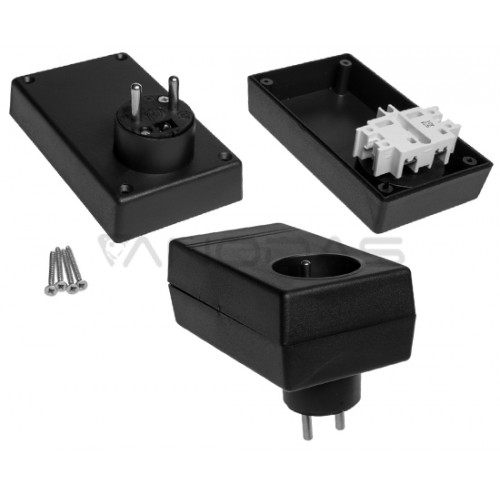 Plastikinė dėžutė Kradex Z27 juoda 46.0x70.0x120.0mm