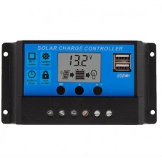 Solar Charge Controller 12/24V 30A 2x USB