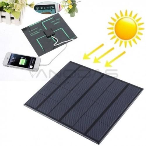 Saulės Panelė 6v 3.5w 580-600mA su USB