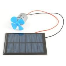 Solar panel and DC motor kit