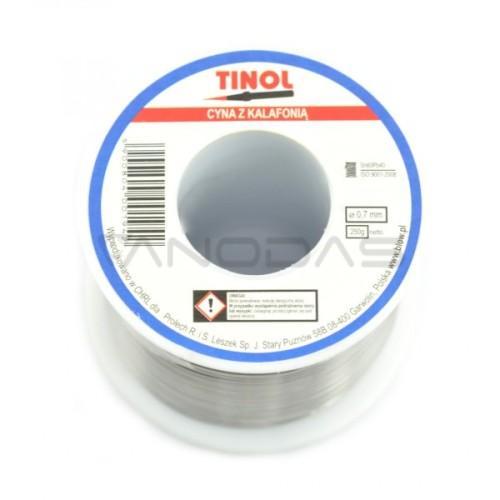 Lydmetalis su kanifolija TINOL Sn60Pb40 1.00mm 100g