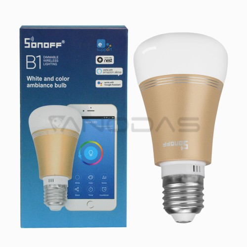Sonoff B1 išmani WiFi valdoma RGB lemputė - E27 6W 600lm