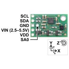 SparkFun LIS3DH trijų ašių akselerometras 1.7V—3.6V I2C 6D/4D 10bit 32-Level FIFO IMUs