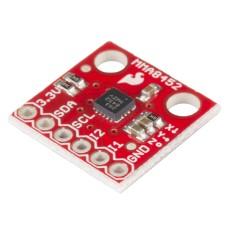 SparkFun MMA8452Q 3-jų ašių MEMS akselerometras 1.95 V to 3.6 V 6 μA – 165 μA ±2g/±4g/±8g 12-bit ir 8-bit I2C
