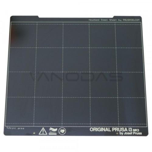 Spyruoklinė plieno plokštė skirta Prusa MK3 / MK3S spausdintuvams