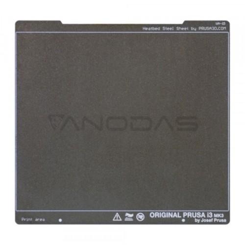 Spyruoklinė plieno tekstūruota plokštė skirta Prusa MK3 / MK3S spausdintuvams