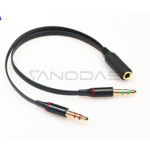 3.5 mm stereo mini jack 1 Female to 2 Male