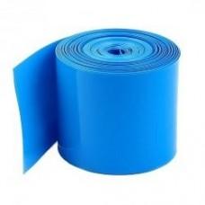 Susitraukianti termo plėvelė PVC - 25mm skersmuo - mėlyna sp.  1 akumuliatoriui 18650 kaina 1m