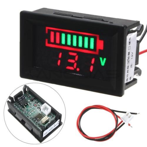 Acid lead battery digital capacity indicator