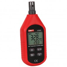 UNI - T UT333 Mini Digital Air Temperature / Humidity Meter - Red with Black