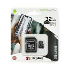 32GB 100Mb/s microSD atminties kortelė Kingston Canvas Select Plus