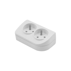 Mains hub with earthing 2 sockets GN-20