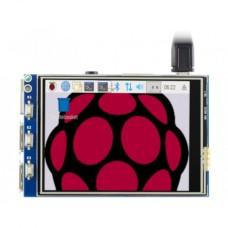 Waveshare Jutiklinis Varžinis Ekranas Raspberry Pi Mikrokompiuteriui - LCD TFT 3.2'' (C)
