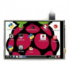 Waveshare Jutiklinis Varžinis Ekranas Raspberry Pi Mikrokompiuteriui - LCD TFT 4'' (C)