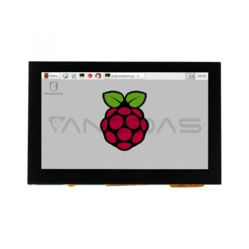 Waveshare Jutiklinis Ekranas DSI Raspberry Pi Mikrokompiuteriui - LCD IPS 4.3''
