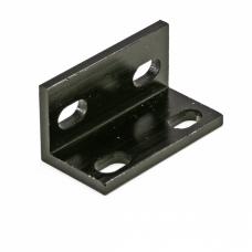 L sujungimas aliuminio profiliams dvigubas - juodas