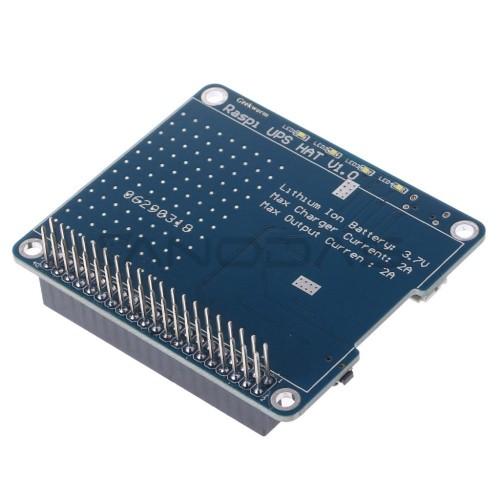 UPS HAT Board - avarinio maitinimo priedėlis Raspberry Pi
