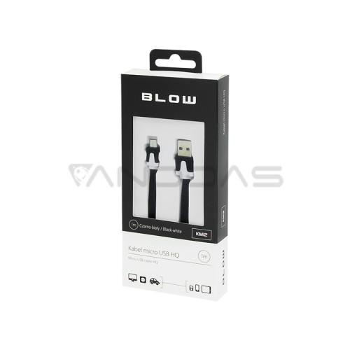 USB - MicroUSB 1.0m black/white cable