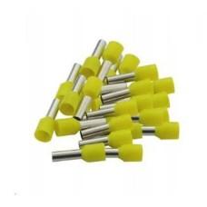Vamzdelio formos jungtys 0.5mm2 100vnt - geltona