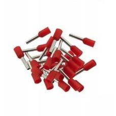 Vamzdelio formos jungtys 0.75mm2 100vnt - raudona