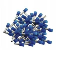 Vamzdelio formos jungtys 1mm2 100vnt - mėlyna
