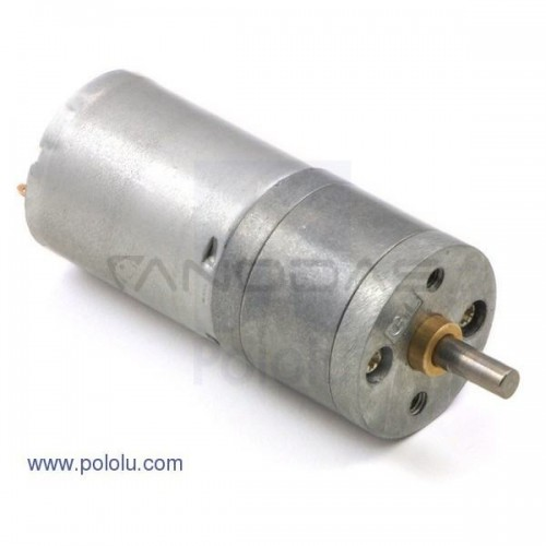Motor Pololu 25Dx58L Gearbox 499:1 6V 12RPM