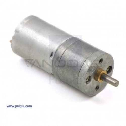 Motor Pololu 25Dx52L HP Gearbox 47:1 6V 210RPM