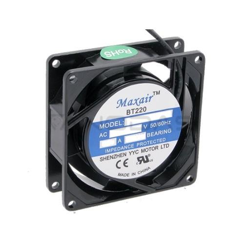 Ventiliatorius MAXAIR 80x80x25mm 230V guolinis