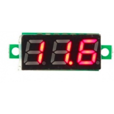Mini Voltage Meter 3-30V red