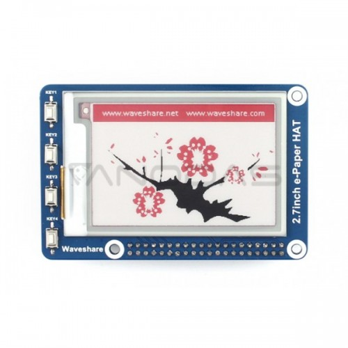 Waveshare E-paper E-Ink Display Hat for Raspberry Pi - 2.7