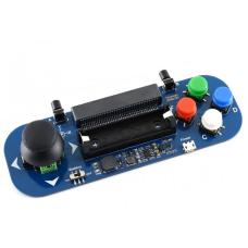 Waveshare Gamepad modulis su vairasvirte ir mygtukais skirtas Micro:bit 14500 Li-ion