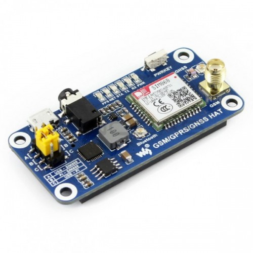 Waveshare Raspberry Pi HAT GSM/GPRS/GNSS/Bluetooth