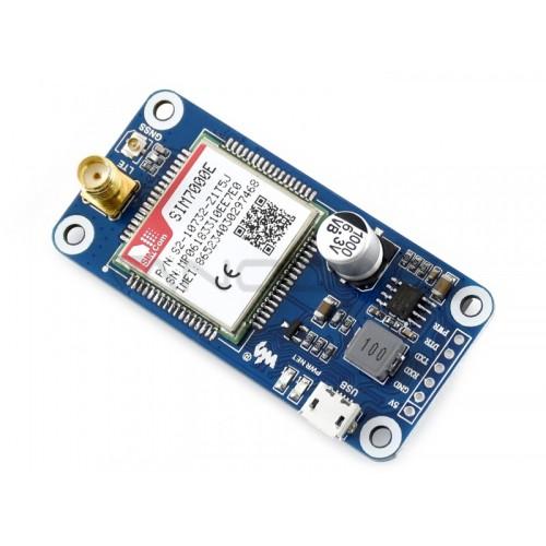 Waveshare LTE GPS HAT - NB-IoT/LTE/GPRS/GPS SIM7000E - Modelis Skirtas Raspberry Pi 3B+/3B/2B/Zero