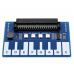 Waveshare mini fortepijono modulis jutikliniai klavišai muzikai skirtas Micro:bit 3.3V LED