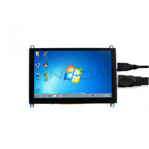Waveshare Capacitive Touch Display for Raspberry Pi 3B+/3B/2B/Zero - LCD TFT 5